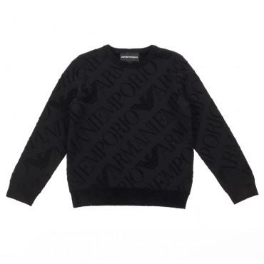 Czarny sweter chłopięcy Emporio Armani 003315 A