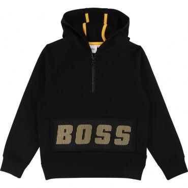 Czarna bluza dla chłopca Hugo Boss 003362