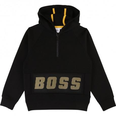 Czarna bluza dla chłopca Hugo Boss 003362 A