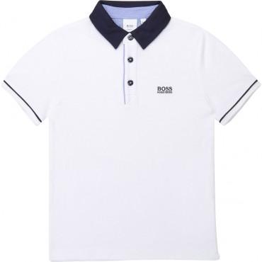 Elegancka koszulka polo dla chłopca Boss 003363