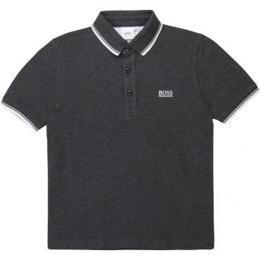 Chłopięca koszulka polo grafit Hugo Boss 003364