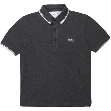 Chłopięca koszulka polo grafit Hugo Boss 003364 A