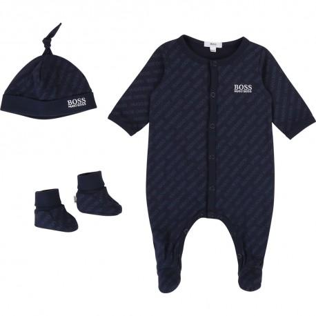 Ekskluzywny komplecik niemowlęcy Hugo Boss 003372 A