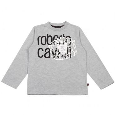 Koszulka chłopięca Roberto Cavalli Devils 003402 A