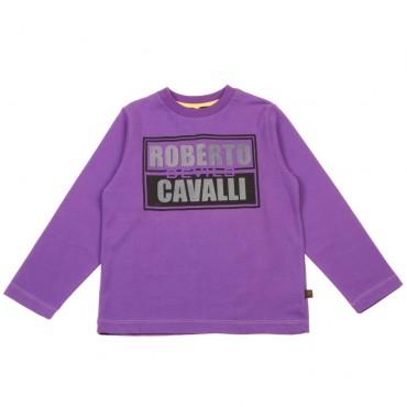 Ciepła koszulka chłopięca Roberto Cavalli 003403 A