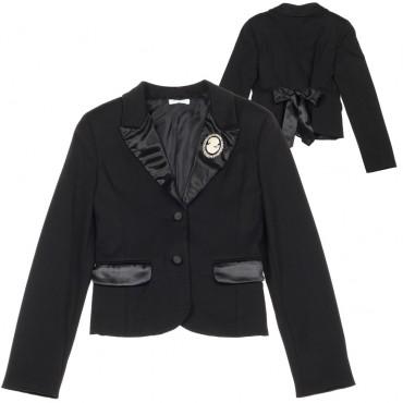 Czarny żakiet dziewczęcy Miss Grant 003416