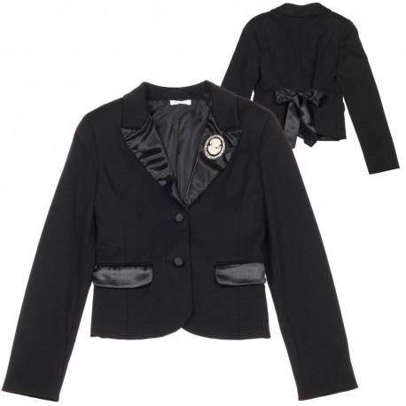 Czarny żakiet dziewczęcy Miss Grant 003416 A