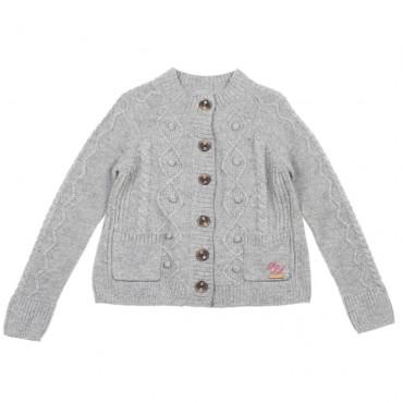 Szary kardigan dla dziewczynki Pepe Jeans 003419