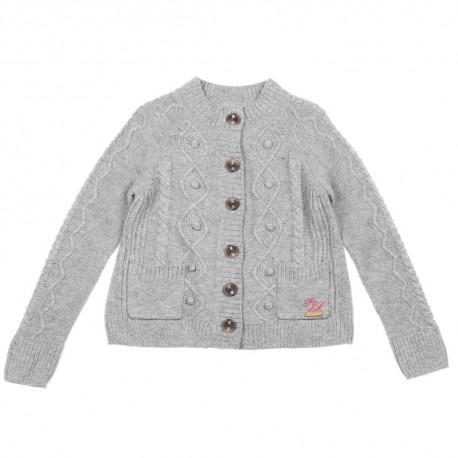 Szary kardigan dla dziewczynki Pepe Jeans 003419 A