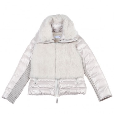 Puchowa kurtka z futrzaną kamizelką Pinko 003422 A