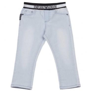 Jasne jeansy chłopięce Emporio Armani 003433 A