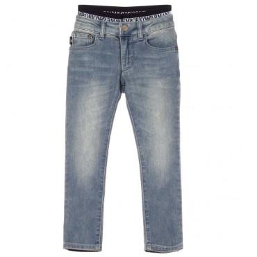 Jeansy chłopięce z gumą Emporio Armani 003438 A