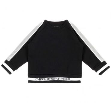 Czarna bluza chłopięca Emporio Armani 003441 A