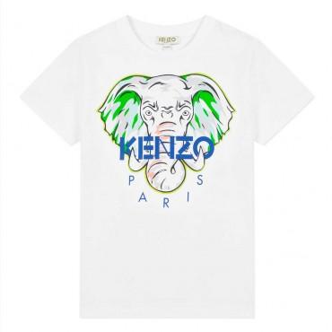 T-shirt dla dziecka ze słoniem Kenzo Kids 003443
