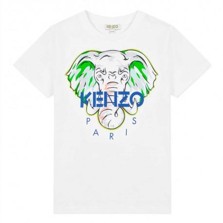 T-shirt dla dziecka ze słoniem Kenzo kids 003443 A