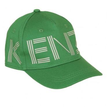 Zielona czapka z daszkiem Kenzo Kids 003445 A