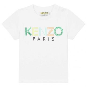 T-shirt niemowlęcy logo Kenzo Kids 003446 A
