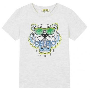 T-shirt dla dziecka z tygrysem Kenzo Kids 003447