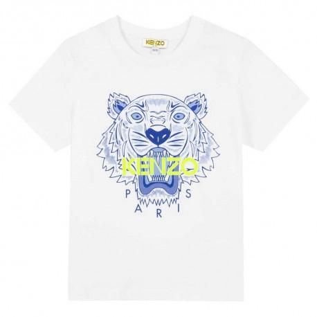 Biała koszulka dla dziecka z tygrysem Kenzo 003449 A