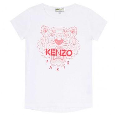 Koszulka dla dziewczynki tygrys Kenzo Kids 003451 A