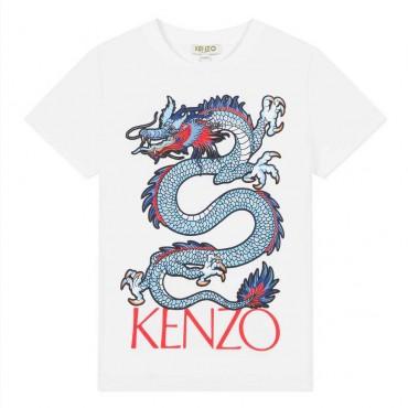 Ubrania dla dzieci Kenzo Kids - chłopięcy t-shirt ze smokiem 003454 A