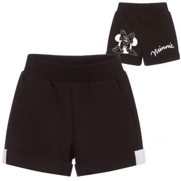 Czarne szorty dziewczęce Miki Monnalisa 003473 A