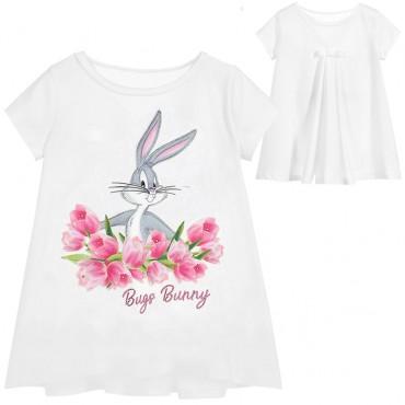 Trapezowa bluzka dziewczęca Bugs Monnalisa 003477 A