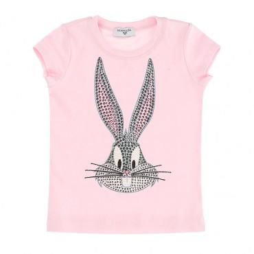 Dziewczęcy t-shirt Bunny Bugs Monnalisa 003478