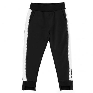 Czarne spodnie dla dziewczynki Monnalisa 003486 A
