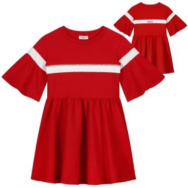 Czerwona sukienka dla dziewczynki Monnalisa 003489 A