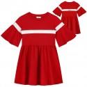 Czerwona sukienka dla dziewczynki Monnalisa 003489