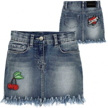Jeansowa spodnica dziewczęca Monnalisa 003493 A