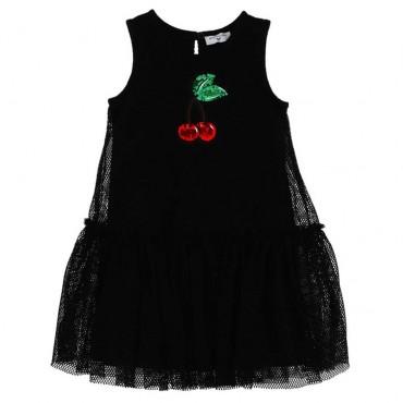 Sukienka dziewczęca z aplikacjami Monnalisa 003496