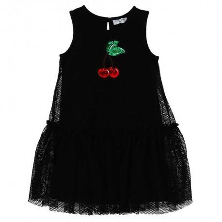 Sukienka dziewczęca z aplikacjami Monnalisa A003496