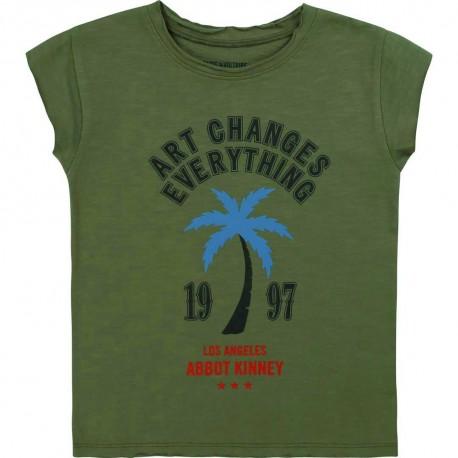 Bawełniany t-shirt dziewczęcy Z&V 003502 A