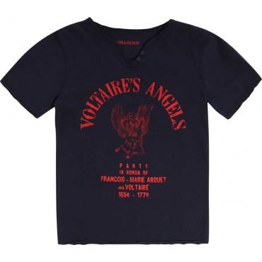 Bawełniany t-shirt chłopięcy Zadig&Voltaire 003510 A