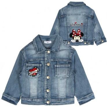 Jeansowa kurtka dla dziewczynki Monnalisa 003518