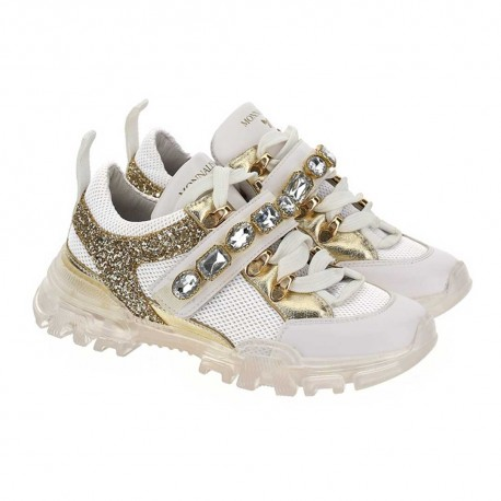Masywne sneakersy dziewczęce Monnalisa 003522 A