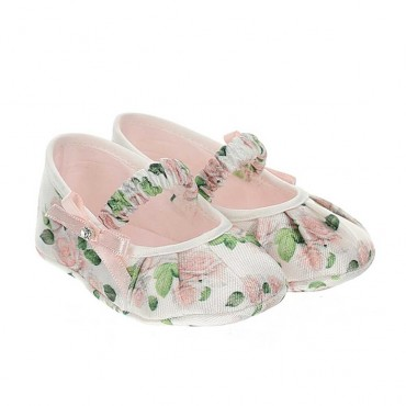 Tekstylne buciki dla malucha Monnalisa 003530 A