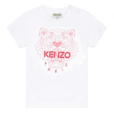 Koszulka niemowlęca Tygrys Kenzo 003535 A