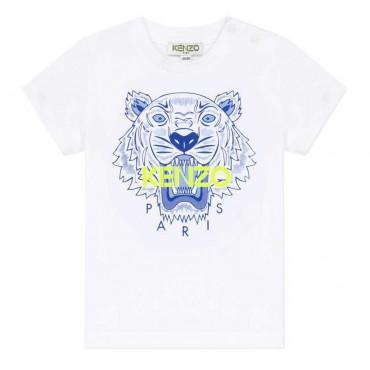 T-shirt niemowlęcy Tygrys Kenzo 003536 A