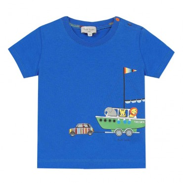 Letni t-shirt niemowlęcy Paul Smith Junior 003538 A
