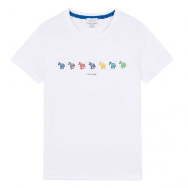 T-shirt chłopięcy Zebry Paul Smith Junior 003541 A
