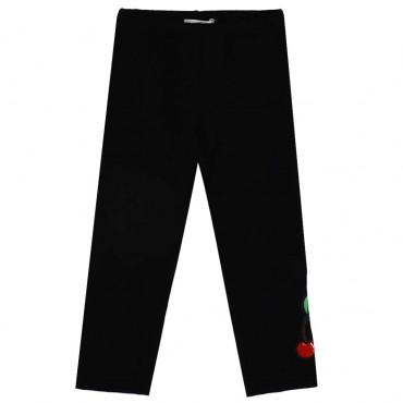Czarne legginsy dziewczęce Monnalisa 003545