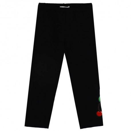 Czarne legginsy dziewczęce Monnalisa 003545 A