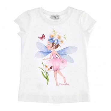 Letni t-shirt dziewczęcy Monnalisa 003546