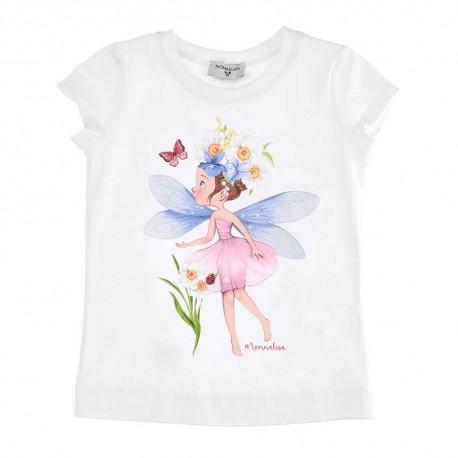 Letni t-shirt dziewczęcy Monnalisa 003546 A