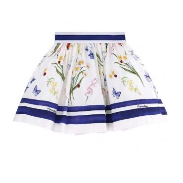 Spódnica dziewczęca w kwiaty Monnalisa 003547