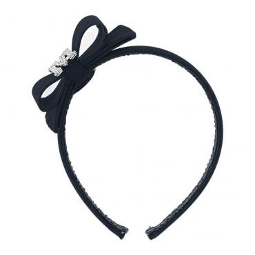Czarna opaska na włosy Monnalisa 003550 A