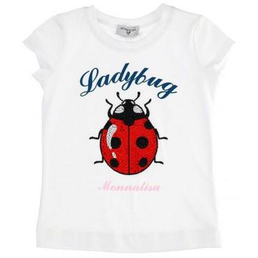 T-shirt dziecięcy z biedronką Monnalisa 003556